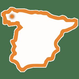 mapa provincia A CORUÑA